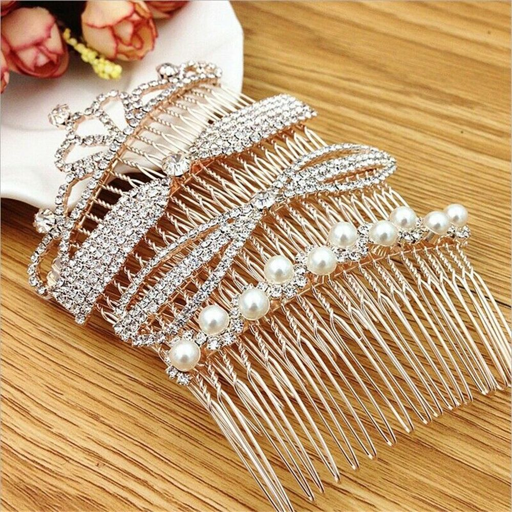 Fashion Crystal Accessory Rhinestone Comb Hairpin Bobby Pin Wedding Party Bridal Hair Accessory Festival Hair Styling Accessorie