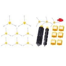 20 pces acessórios limpos para irobot roomba aspirador de pó robótico: 8 pces escovas 800 e 900 series & 12 pces filtro conjunto