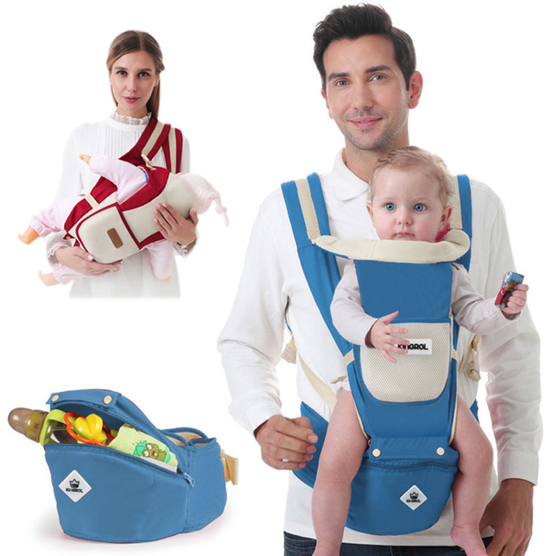 Ergonomic Baby Carrier Infant Kid Baby Hipseat Sling Front Facing Kangaroo Baby Wrap Carrier for Baby Travel 0 36 Months|Backpacks & Carriers| |  - AliExpress