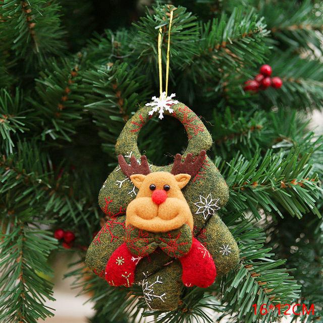 New Year 2020 Cute Santa Claus/Snowman/Angel Christmas Dolls Noel Christmas Tree Decoration for Home Xmas Navidad 2019 Kids Gift 64