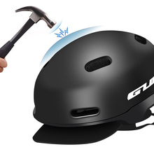 Casco de GUB CITY PRO + EPS casco de bicicleta de ocio urbano Retro 54-58cm negro naranja accesorios para bicicleta