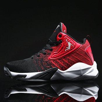 Nowe męskie obuwie do koszykówki oddychające buty do koszykówki kobiety para sportowe buty trenerzy Fitness męskie Retro buty do koszykówki tanie i dobre opinie hemmyi CN (pochodzenie) Średnie (b m) Średni podkrój RUBBER Cotton Fabric 9109 Bezpłatne elastyczne Lace-up Innych