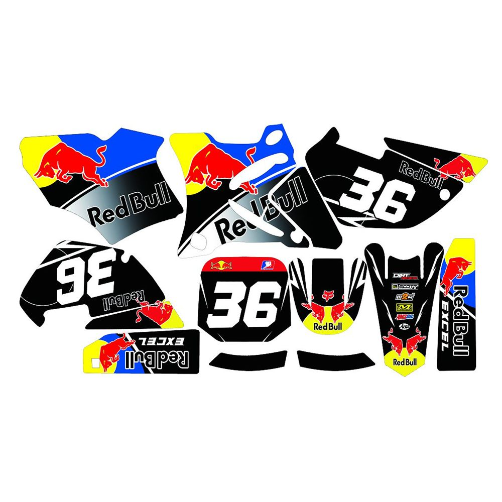 For YAMAHA YZ85 2002-2014 New Bull Full Graphics Decals Stickers Custom Number Name 3M Bright Stickers Waterproof