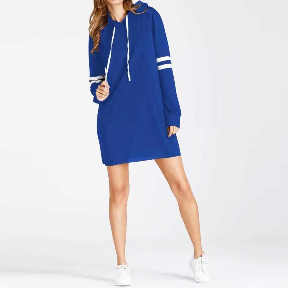 40 @ nova manga comprida hoodie longo jumper pulôver vestido camisa feminina hoodies jumper vestido longo moda feminina