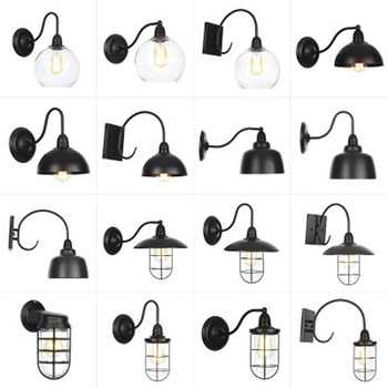 Wall lamp Outdoor Waterproof LED Wall light AC90-260V Wrought iron Courtyard Garden Porch Corridor Lights retro wall lamp outdoor led wall lamp waterproof ip54 porch lights garden wall lamps aluminum alloy courtyard corridor porch lights ac85 265v