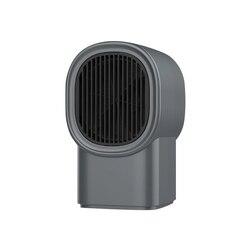 Szary przenośne elektryczne ogrzewanie fan za pomocą jednego przycisku gniazdko do montażu naściennego powietrza ogrzewanie cieplej mini grzejnik cichy urządzeń biurowych z wtyczką ue w Grzejniki elektryczne od AGD na