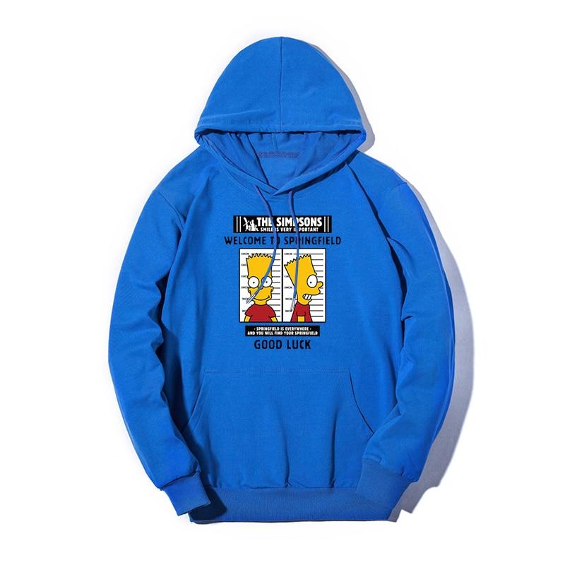 Hoodies Autumn Winter Plus Size Cartoon Print Simpson Pocket Pullover Hoodie Female Casual Warm Hooded Sweatshirt 2019