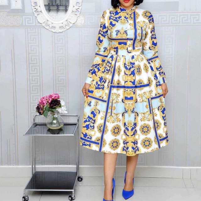 Print Vintage Women Dress
