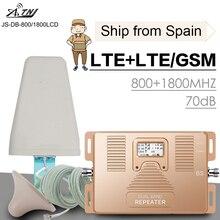 4G LTE 800 bande 20 LTE 1800 bande 3 double bande téléphone portable Signal Booster GSM LTE 1800 téléphone portable cellulaire Signal répéteur ensemble