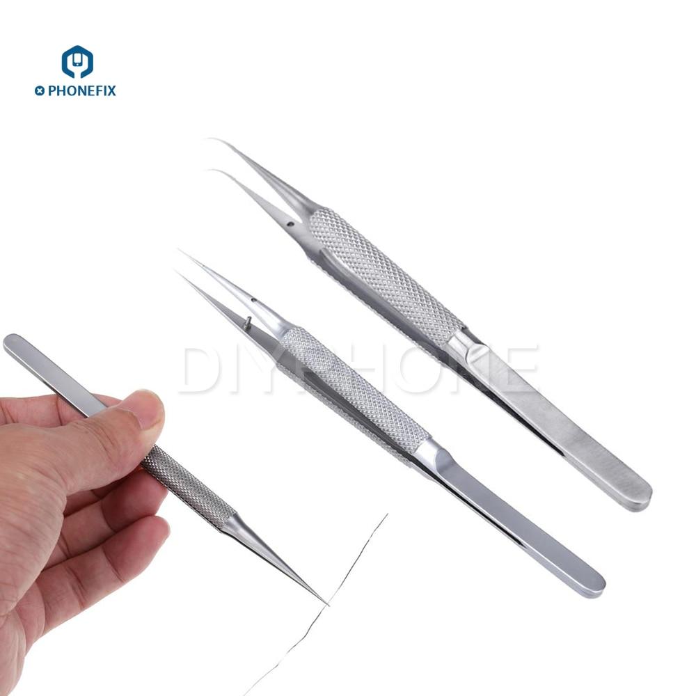 PHONEFIX High Quality Titanium Alloy Tweezers Mobile Phone Repair Tool For Jump Wire Fingerprint Motherboard Repair