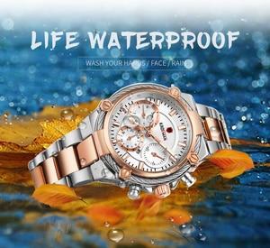 Image 5 - Bayanlar bilek saatler üst marka lüks iş kadınları saatler 3ATM yeni moda kadın saat çelik bilezik Relogio Feminno 836