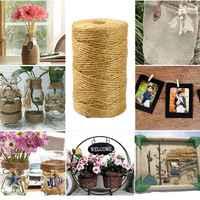 100 м натуральный шпагат из мешковины, веревка, вечерние упаковка для свадебного подарка, шнуры, сделай сам, скрапбукинг, Цветочный декор