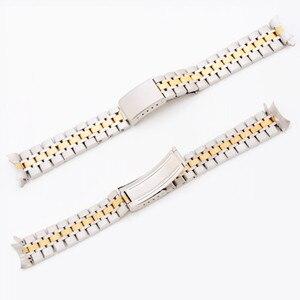 Image 5 - 19 مللي متر الفضة الذهب المحار أضعاف نشر المشبك حزام (استيك) ساعة حزام سوار ل الأمير سلسلة ووتش جزء مربط الساعة
