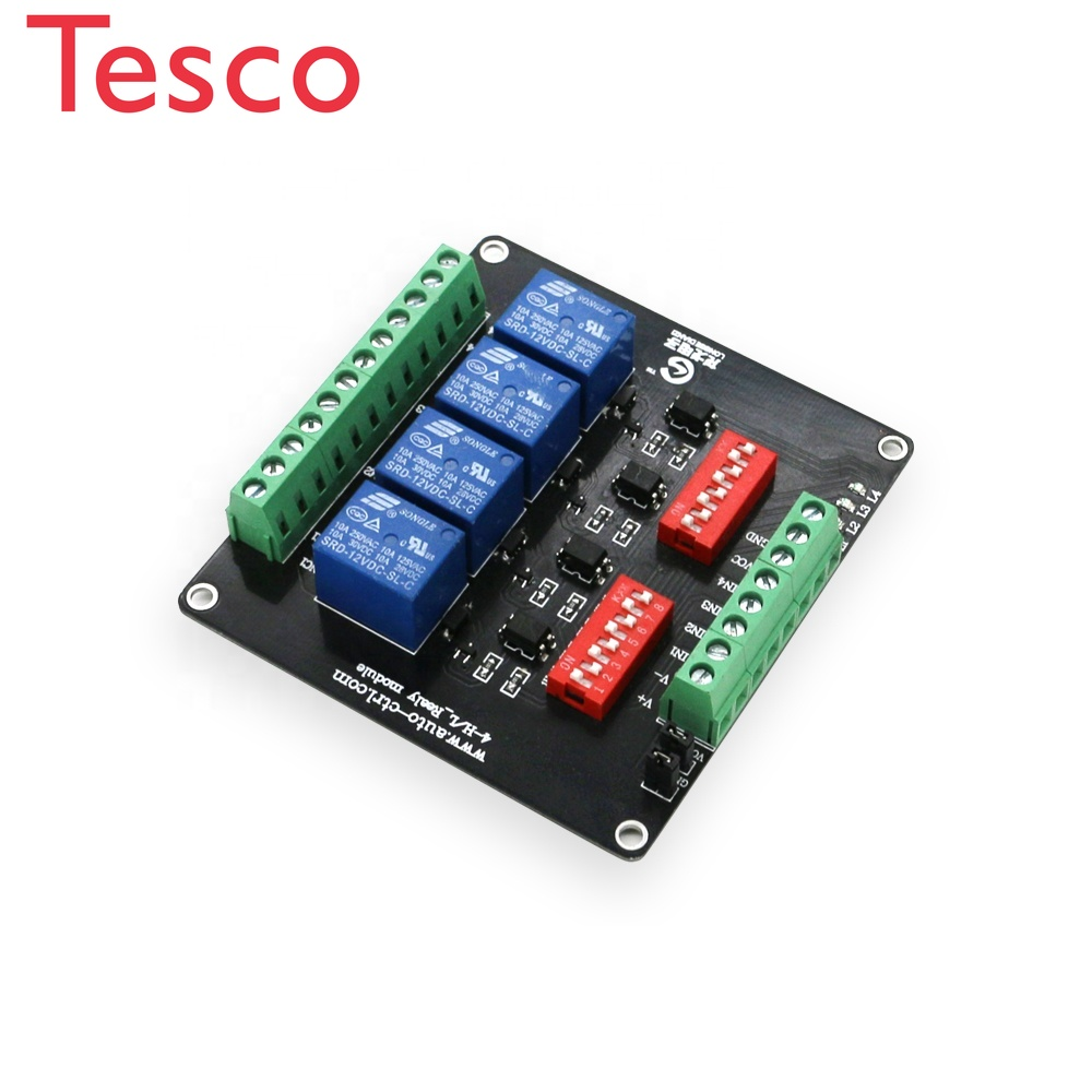 High And Low Level Low-level 3V 5V 12V 24V 4 Channel Dc 5v 4ch Relay Module