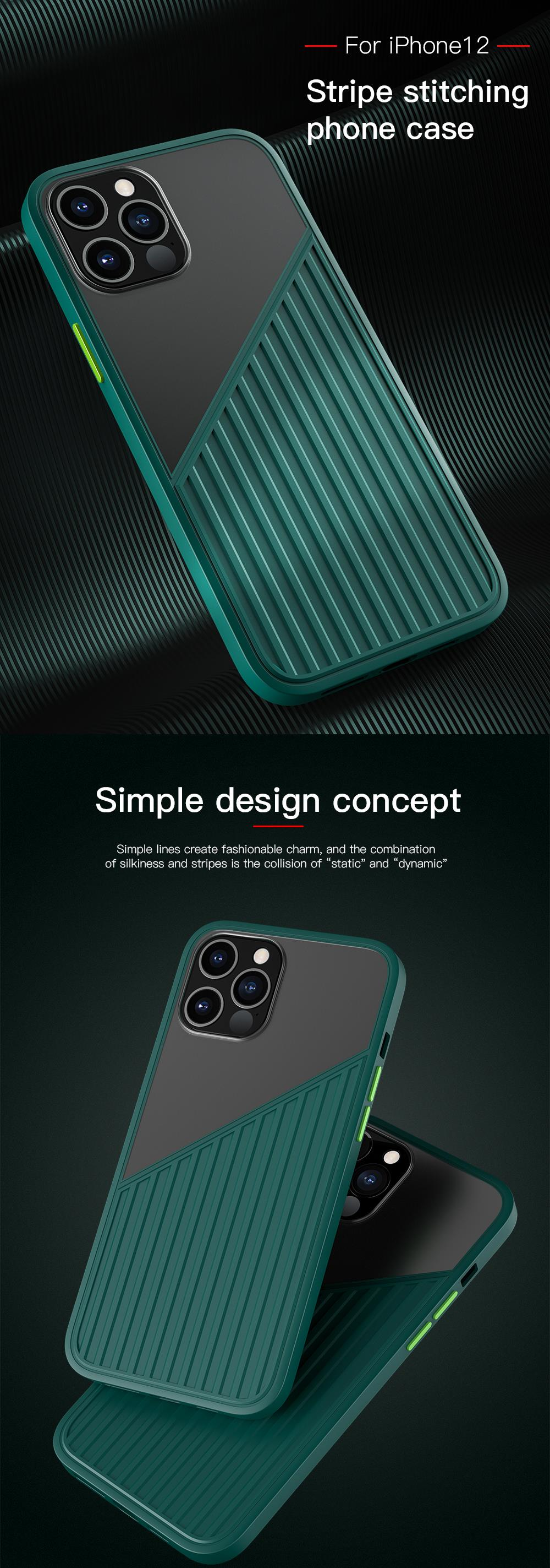 Silicone Splicing Shockproof Case for iPhone 12 & 11 Pro Max