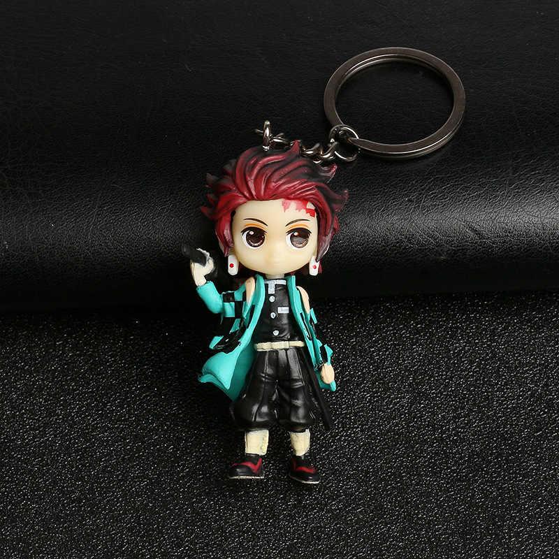 2020ใหม่3DอะนิเมะHand-MadeพวงกุญแจDemon Slayerน่ารักจี้Kamado Tanjirou Nezuko Agatsuma Zenitsu Key Chain Hotขาย