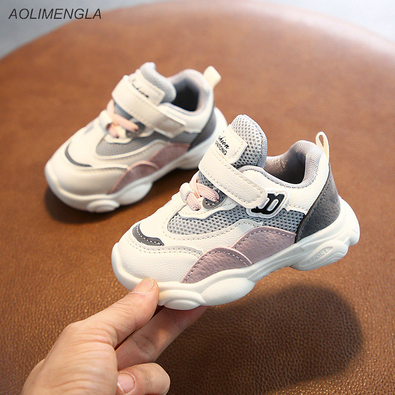 Модные детские кроссовки, детская спортивная обувь, новинка 2020, Весенняя сетчатая обувь для мальчиков и девочек, милая повседневная обувь д...