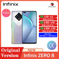 Infinix ноль 8 смартфонов 33 Вт Супер зарядка 8 ГБ 128 6,85 дюймов Android Quad Камера Helio G90T هاتف ذكي