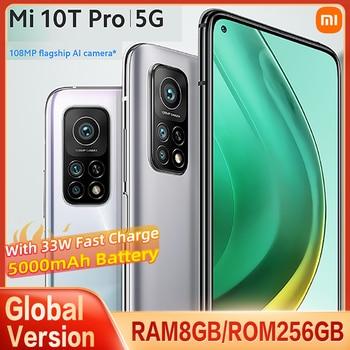 "Global Version Xiaomi Mi 10T PRO 8GB+256GB 5G Smartphone Snapdragon 865 108MP Camera 144HZ 6.67""Screen 5000mAh 33W Fast charge 1"