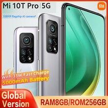 "Global Version Xiaomi Mi 10T PRO 8GB+256GB 5G Smartphone Snapdragon 865 108MP Camera 144HZ 6.67""Screen 5000mAh 33W Fast charge"