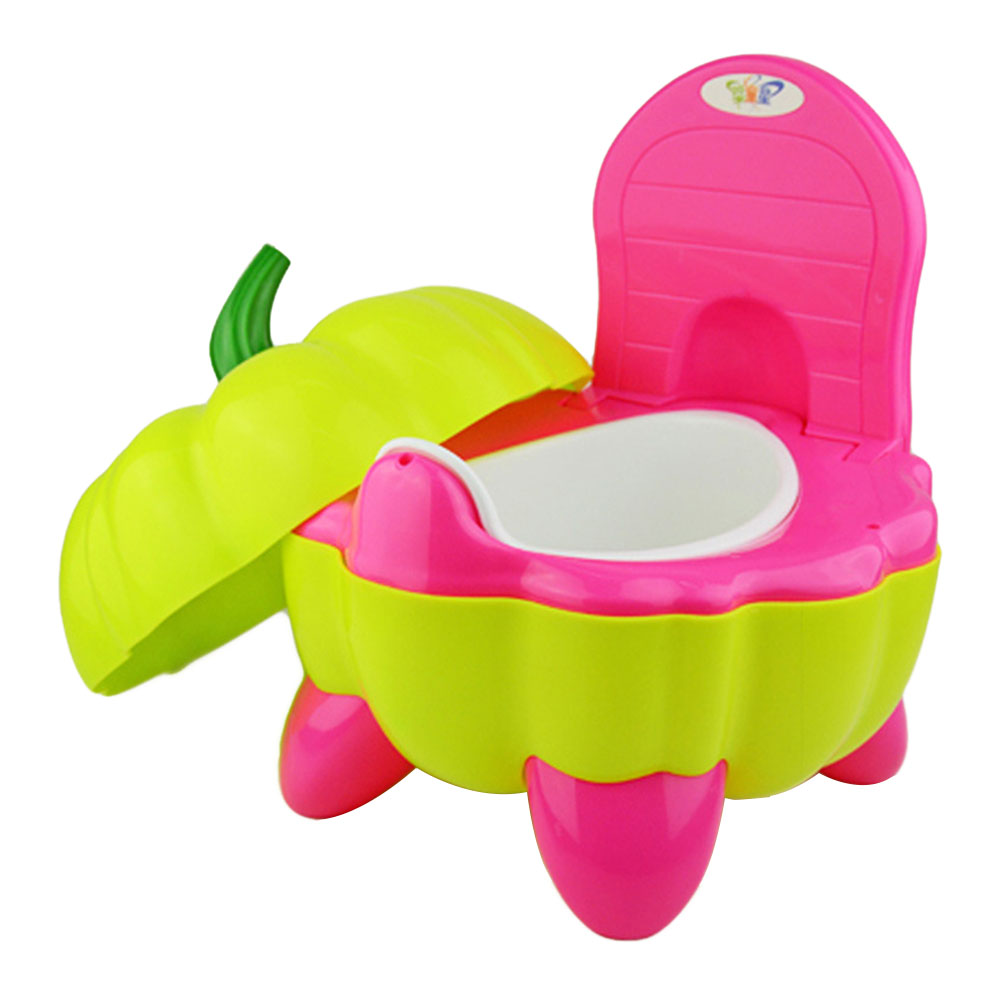 Cute Folding Toddler Chair Potty Plastic Cartoon Pumpkin Training Baby Portable Toilet Seat