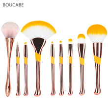 Soft Big Size Makeup Brushes Cream For Foundation Powder Brush Set Face Blush Brush Professional Large Cosmetic Make Up Tools hot oval makeup brushes tools cosmetic 2color foundation cream powder blush make up brush set