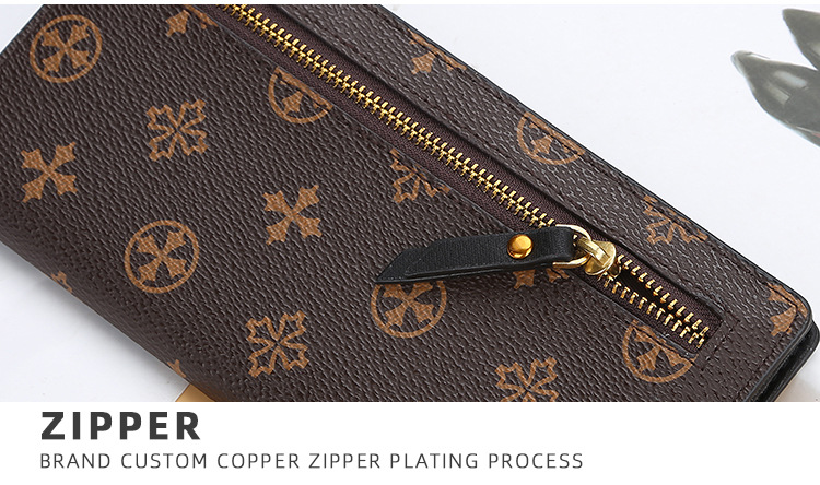 de couro embreagem padrão flor zíper luxo desinger louis