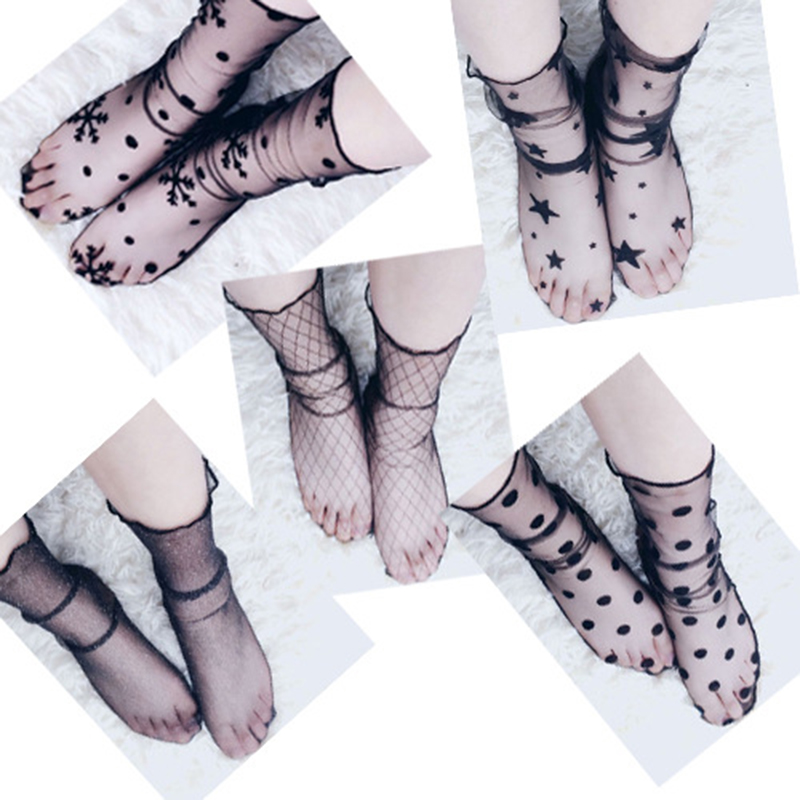 Summer Lace Feet Sleeve Women Sun Protection Matching Sandals Slippers Cute Sexy Feet Favorite Non-daily Socks