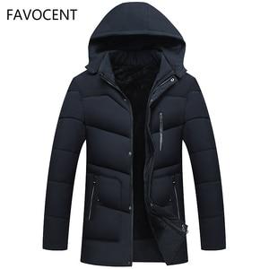 Image 1 - FAVOCENT Good Quality Men Jacket Super Warm Thick Mens Winter Parkas Long Coats with Hood for Leisure Men Parka Plus Size 5XL