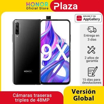 Перейти на Алиэкспресс и купить Глобальная версия Honor 9X Pro смартфон Kirin 810 6 ГБ 256 6,59 ''Full Экран 48MP тройной задней камер мобильных телефонов 4000 мАч