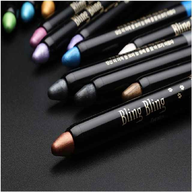 15 Color Highlighter Eyeshadow Pencil Waterproof Glitter Matte Nude Eye Shadow Makeup Pigment Cosmetics White Eye Liner Pen 5