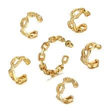 FNIO Böhmen Clip Auf Ohrringe Für Frauen Gold Ohr Manschette C Geformt Kleine Earcuff Clip Ohrringe Gefälschte Piercing 2020 Mode schmuck