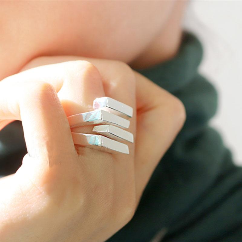 HUANZHI 2020 новый мульти-Слои нерегулярные трапециевидные квадратный крестообразный вырез металлическое кольцо для Для женщин девочек вечерни...