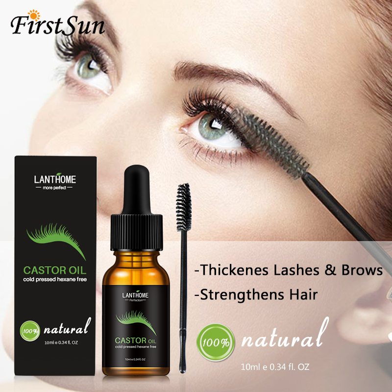 10ml Castor Oil Hair Growth Serum For Eyelash Growth Lifting Eyelashes Thick Eyebrow Growth Enhancer Eye Lashes Serum Mascara