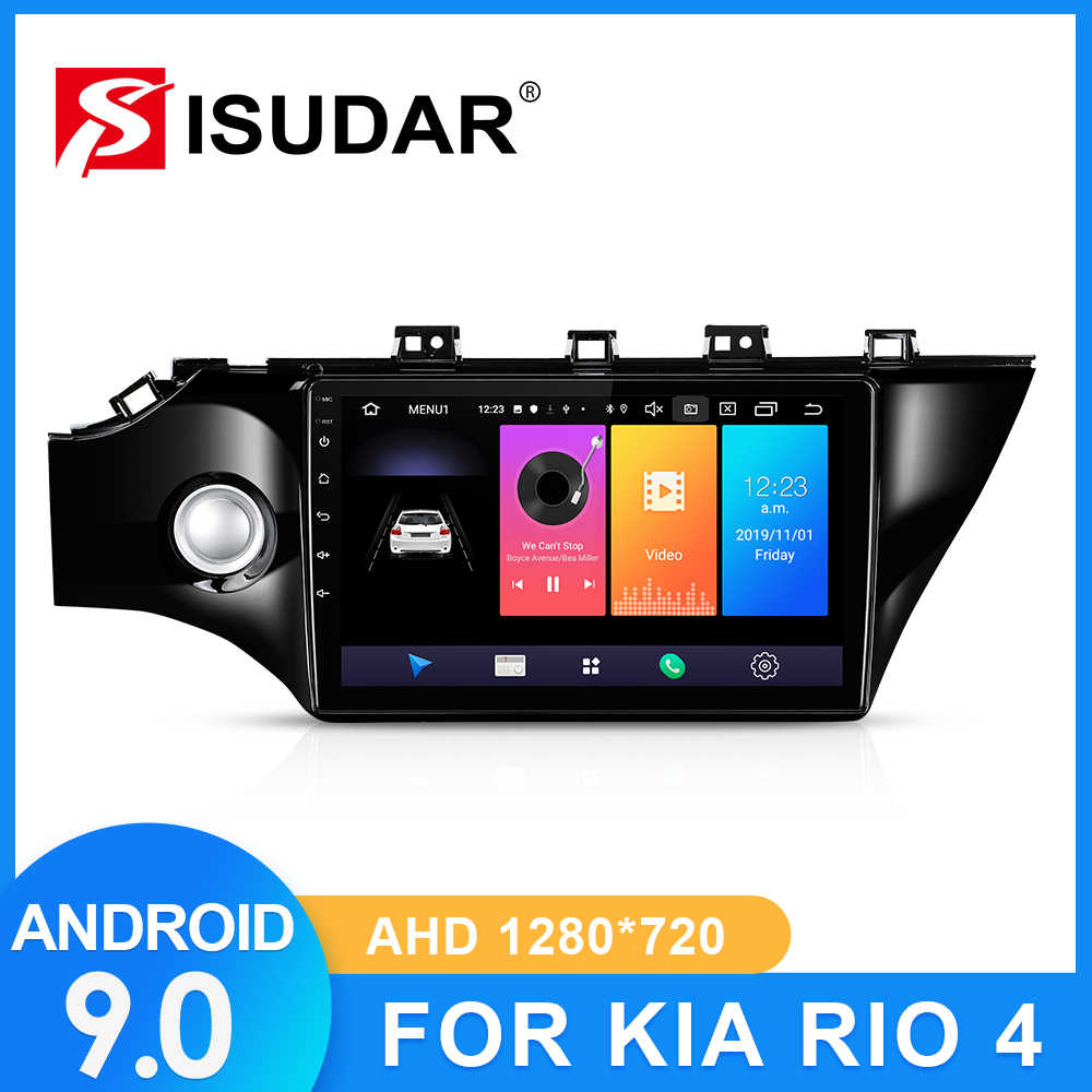 ISUDAR รถวิทยุสำหรับ KIA/RIO 4 2016 2017 2018 2019 2 DIN Android 9 Autoradio มัลติมีเดีย GPS DVR กล้อง RAM 2GB ROM 32GB USB IPS
