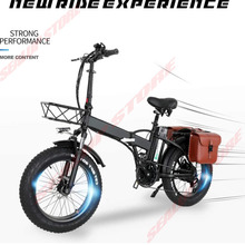 1000W Fold Electric Bicycle 26 Inch Fat Tire 13AH Powerful Motor Folding Ebike Beach Snow Commuter Travel Bike Adult New