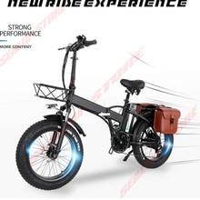 1000W Fold Electric Bicycle 26 Inch Fat Tire 13AH Powerful Motor Folding Ebike Beach Snow Commuter Travel Bike Adult New