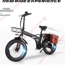 Vélo électrique pliable de 26 pouces pour adultes, pneus larges de 1000W, moteur puissant de 13ah, vélo de plage et de neige, nouveau