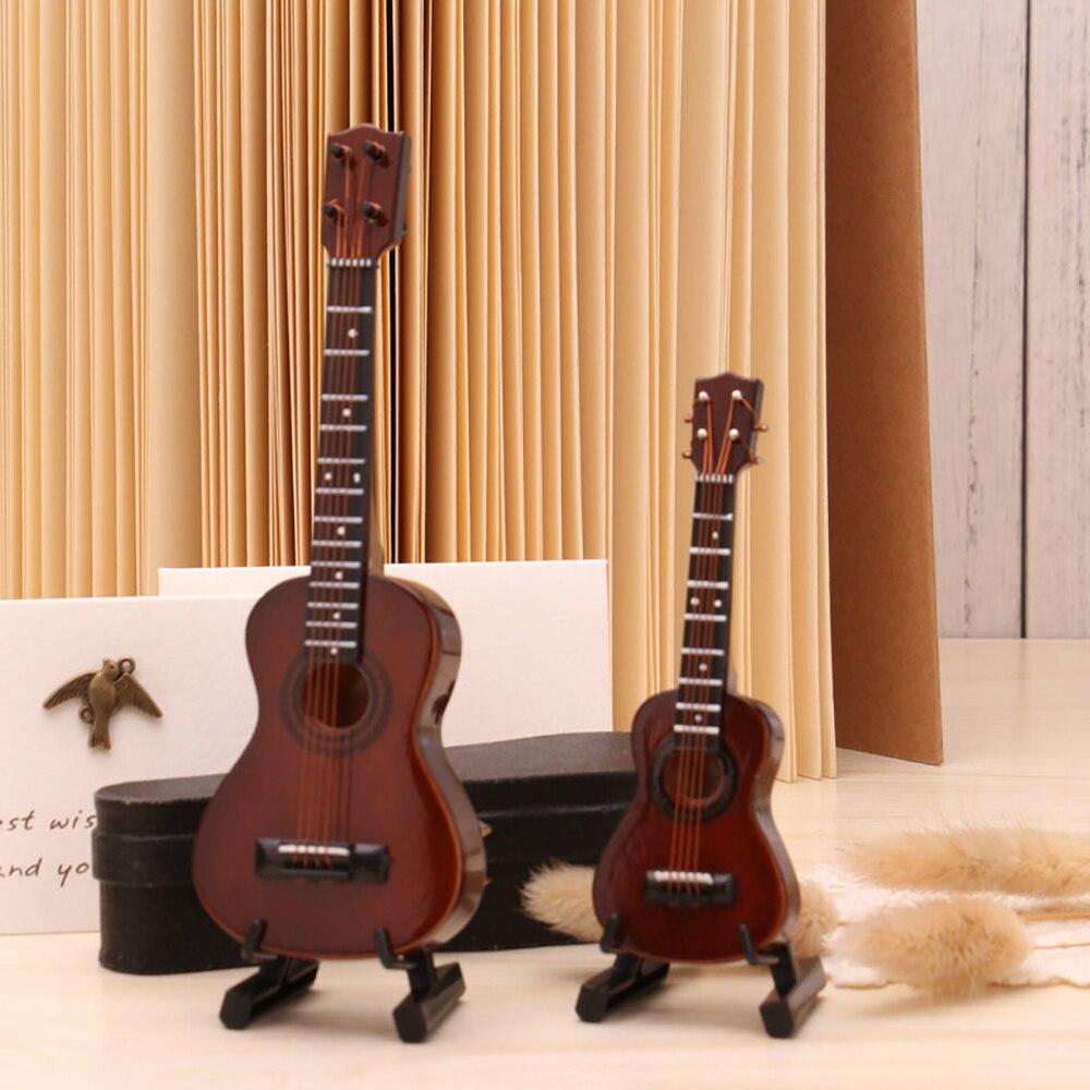 Miniatur Ukulele aus Holz Mini Musikinstrument