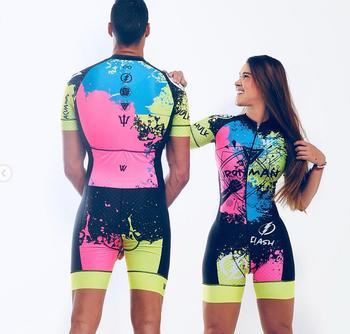 Conjunto de vestido triathlon unissex, roupa de ciclismo para homens e mulheres, macacão em gel com almofada em gel, 2020 1