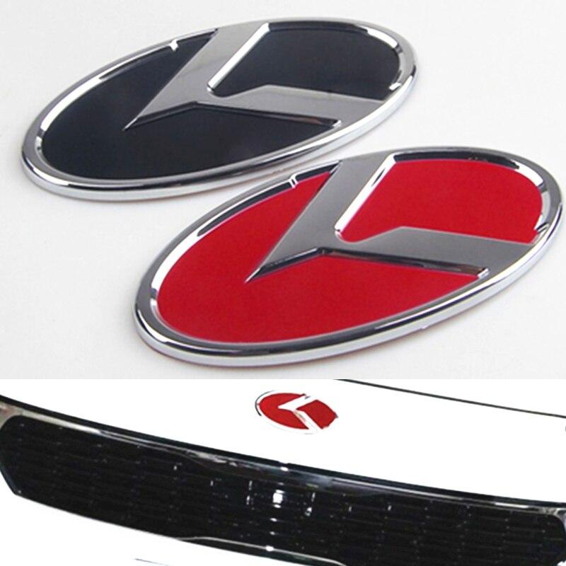 11CM K Logo ABS Carbon Black Emblem Badge Decal Sticker For Kia Optima K5