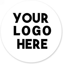200 Custom Round Stickers, Round Personalized Stickers, Business LOGO Labels Tags Made