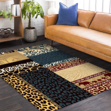 Fashion Europe Blue gray yellow Leopard splice carpet bedroom plush door mat living room floor mat custom made bathroom rug