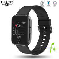 LIGE New 1.3 TFT Color screen men smart watch waterproof sport for iPhone Heart rate blood pressure smartwatch for man women+box