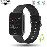 Reloj inteligente LIGE nuevo 1,3 con pantalla de Color TFT para hombre, resistente al agua, deportivo para iPhone, frecuencia cardíaca, presión arterial, reloj inteligente para hombre y mujer + caja