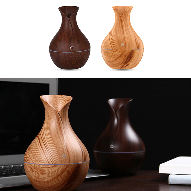 Natural Bamboo Products Wood Grain Household Essential Oil Diffuser Mini Air Purification Expansion Incense Smart Humidifier New 6