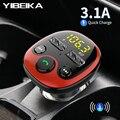 Автомобильное зарядное устройство YIBEIKA для iPhone  мобильного телефона  Handsfree  fm- передатчик   Bluetooth   автомобильный комплект  mp3-плеер   двойной USB...