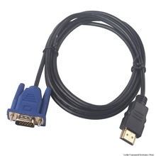 1 M HDMI Cable HDMI To VGA HD With Audio Adapter Cable HDMI TO VGA Cable dropshipping кабель apple hdmi to hdmi cable 1 8 m mc838zm b