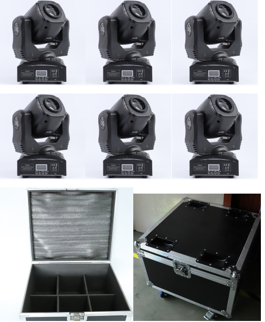 6pcs/lot Or With Flight Case Moving Head Light Gobo Light 60w Spot Moving Head Light 60w Led Spot Light Dmx Moving Head Light