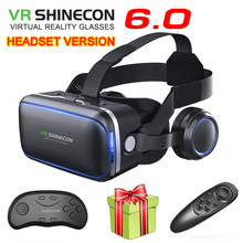VR Shinecon 6.1 VR Virtual Reality 3D Glasses Google Cardboard VR Headset Box Goggles Headset Helmet for Smart Phone(China)
